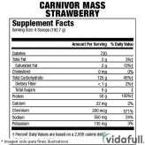 Carnivor Mass MuscleMeds Fresa facts