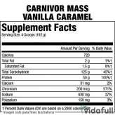 Carnivor Mass MuscleMeds Vainilla Caramelo facts