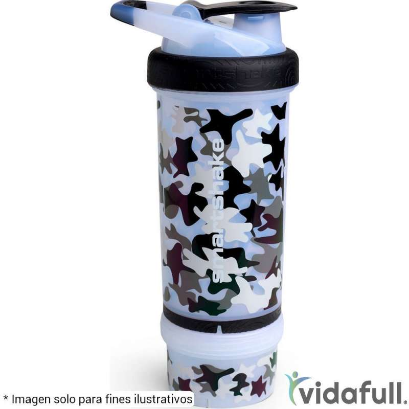 Shaker Doble capa Smartshake 750 ml CAMO Blanco