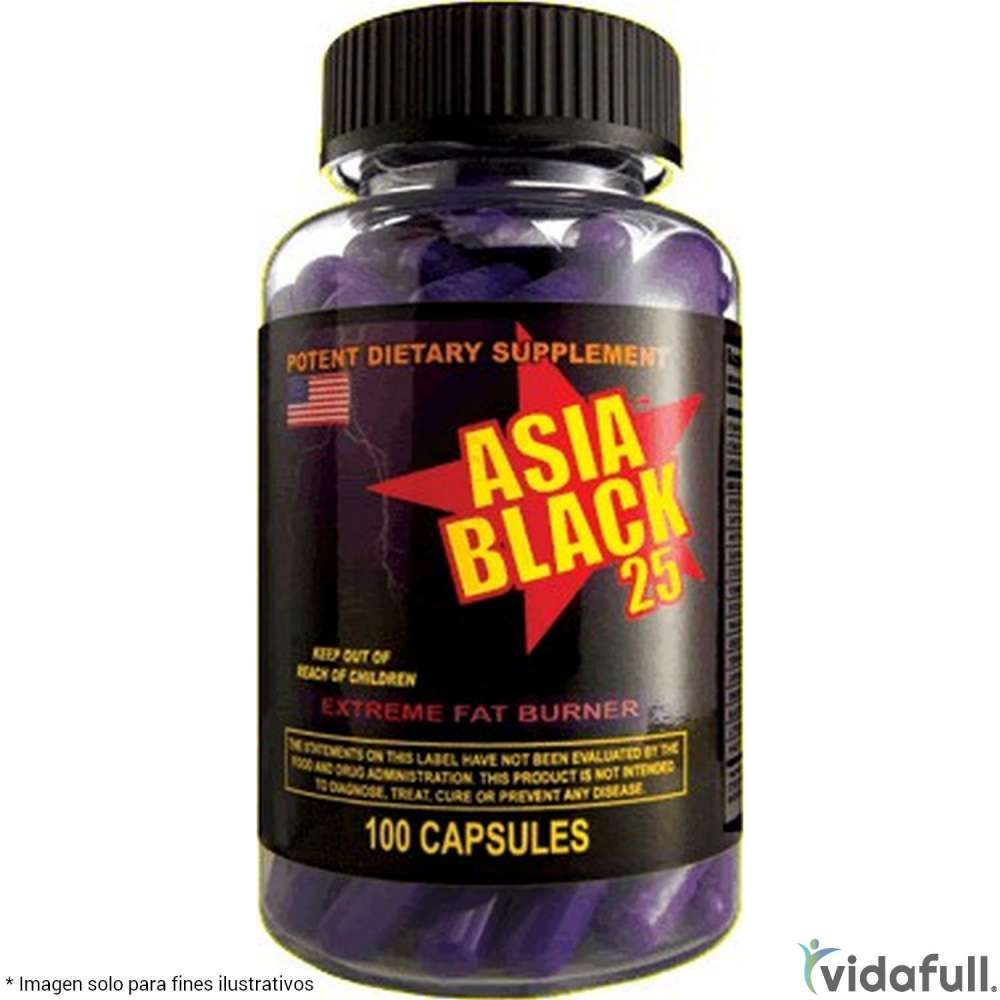 Asia Black 25 Cloma Pharma Termogénicos de Cloma Pharma Bajar de Peso Bien