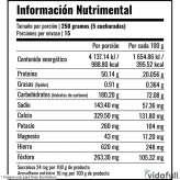 CARB-PRO Primetech Chocolate información nutrimental