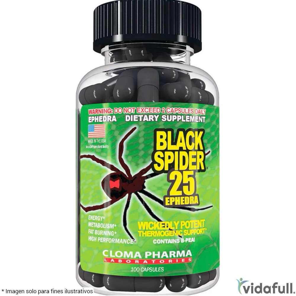 Black Spider 25 Cloma Pharma Termogénicos de Cloma Pharma Bajar de Peso Bien