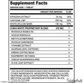 China White 25 Cloma Pharma información nutrimental
