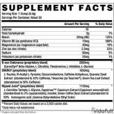 B-NOX Ripped Betancourt información nutrimental