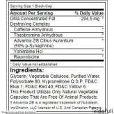 Lipo 6 Black Ultra Concentrate Nutrex información nutrimental