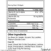 BCAA 2200 Met-Rx información nutrimental