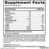 Whey HD BPI información nutrimental