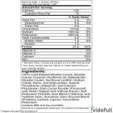 Elite Casein Dymatize información nutrimental