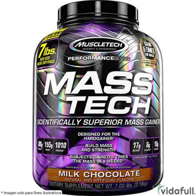 Mass Tech Muscletech Chocolate información nutrimental
