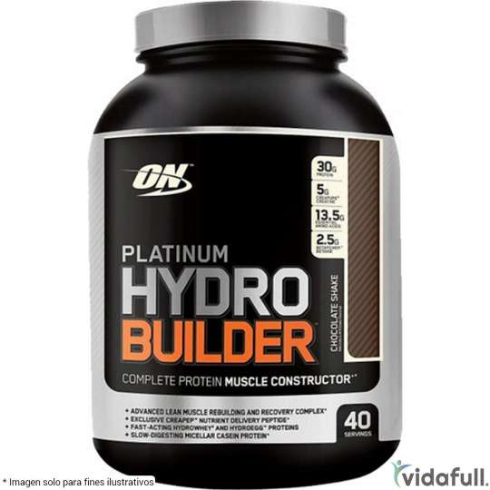 Platinum HydroBuilder ON Proteína de ON Optimum Nutrition Ganar musculo y marcar musculo