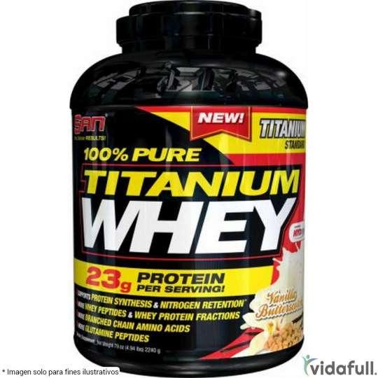 100% Pure Titanium Whey SAN Proteína de SAN Ganar musculo y marcar musculo