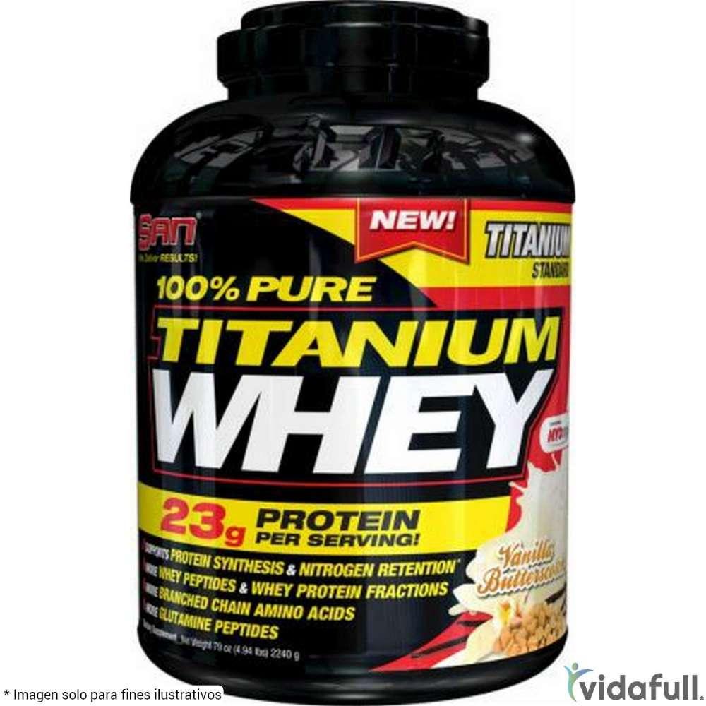 100% Pure Titanium Whey SAN Proteína de SAN Bajar de Peso Bien