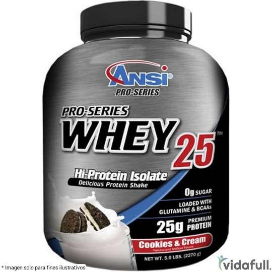 Whey 25 ANSI Proteína de ANSI Nutrition Ganar musculo y marcar musculo