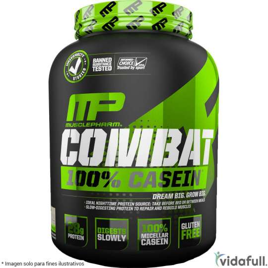 Combat 100% Casein MusclePharm Proteína de MusclePharm Ganar musculo y marcar musculo