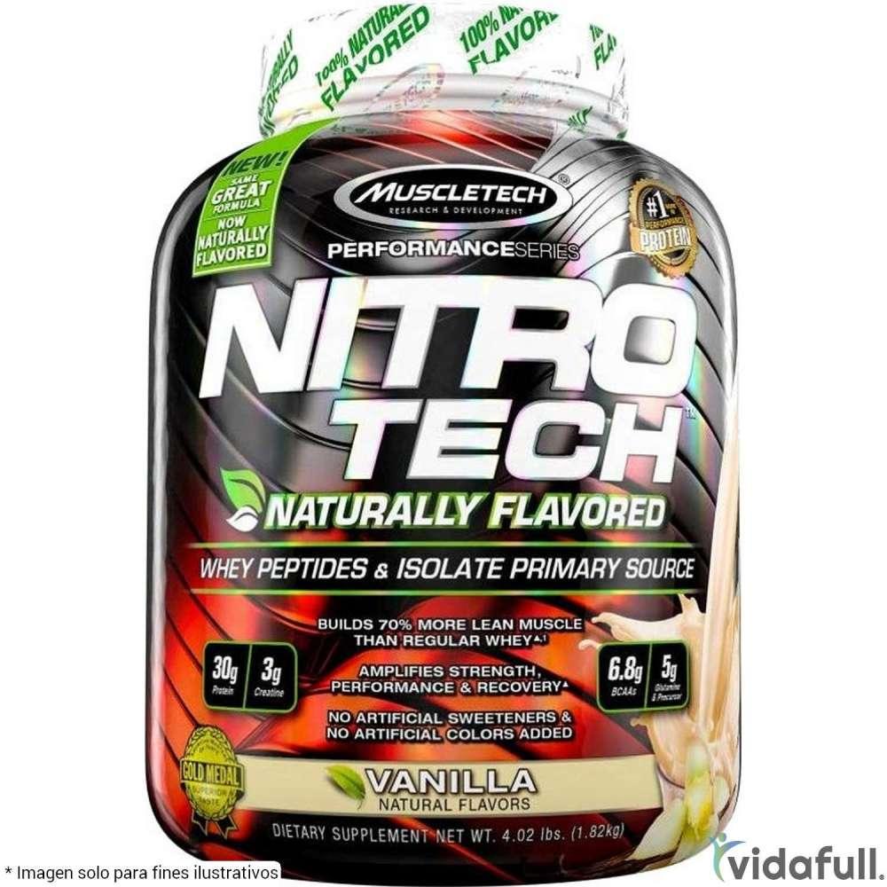 Nitro Tech Naturally Flavored Proteína de Muscletech Ganar musculo y marcar musculo