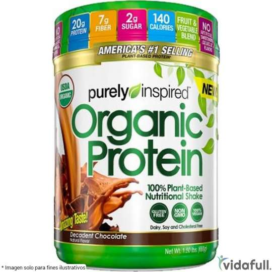 Organic Protein Purely Inspired Proteína de Purely Inspired Ganar musculo y marcar musculo