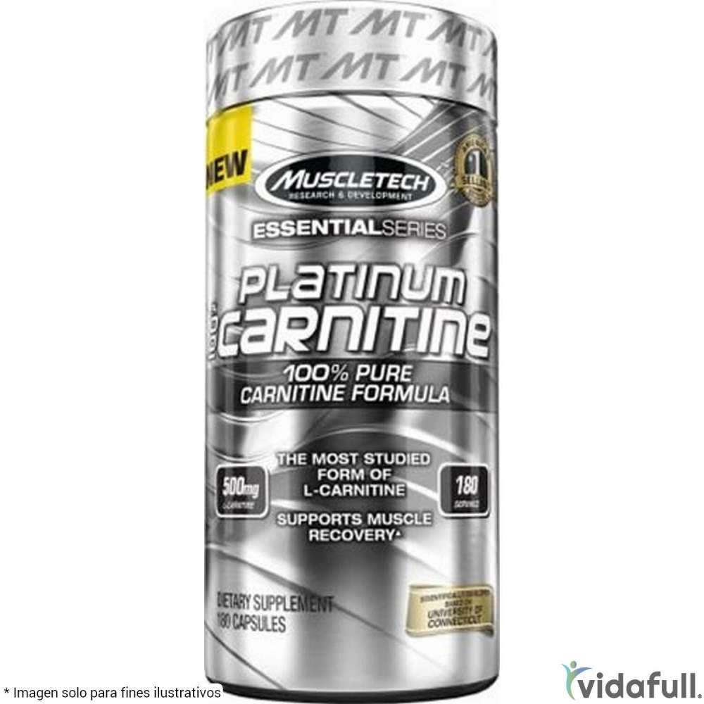Platinum 100% Carnitina MuscleTech Carnitina de Muscletech Bajar de Peso Bien