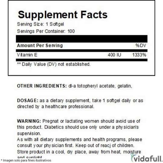 Vitamina E Universal Nutrition