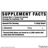 Glutamina XS Ronnie Coleman información nutrimental