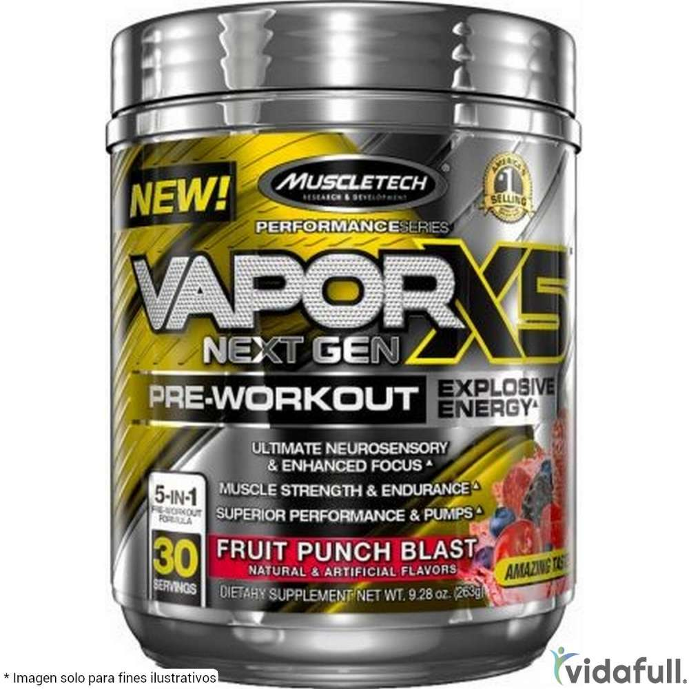 Vapor X5 Next Gen Muscletech Pre-Entrenamiento de Muscletech Bajar de Peso Bien