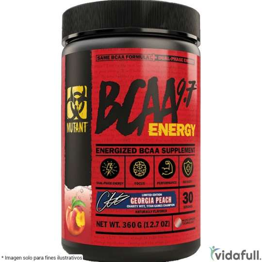 BCAA 9.7 Energy Mutant Durazno