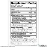 BCAA 9.7 Energy Mutant Mora Azul información nutrimental