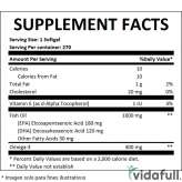 Omega 3 EFA Stack Betancourt información nutrimental