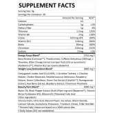 TONE BlackMarket Labs información nutrimental