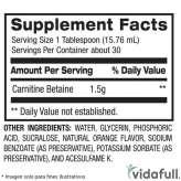 Carnitina Líquida BPI información nutrimental