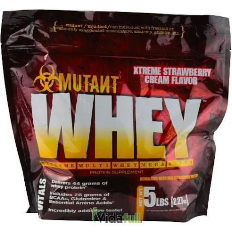 Whey 5 lb Batido de Fresa Mutant